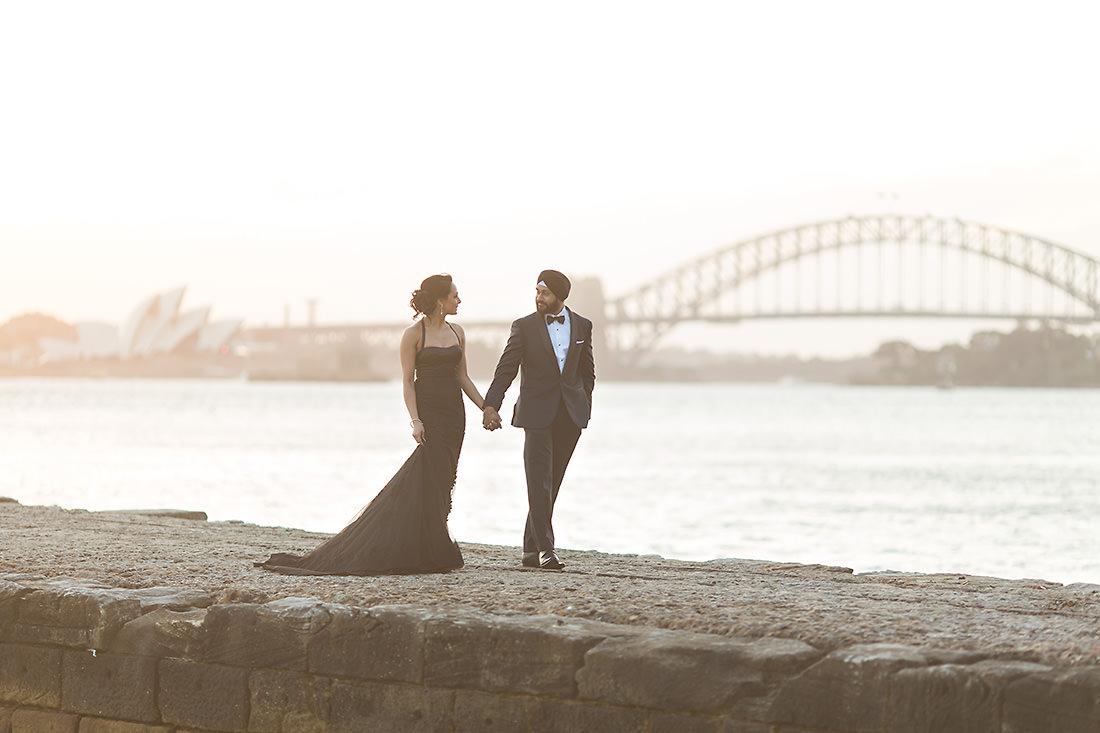 Bradley's Head Sydney wedding photo at sunset