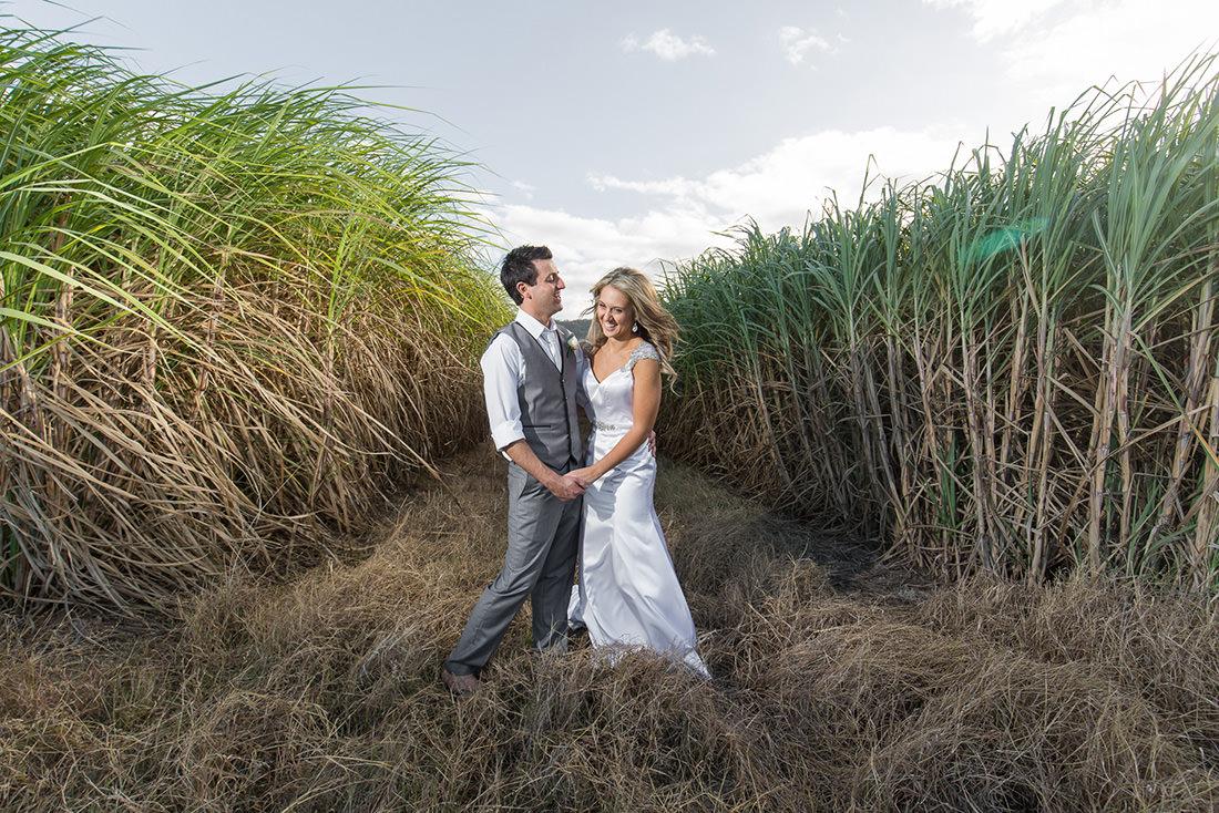 Port Douglas wedding photo at sunset
