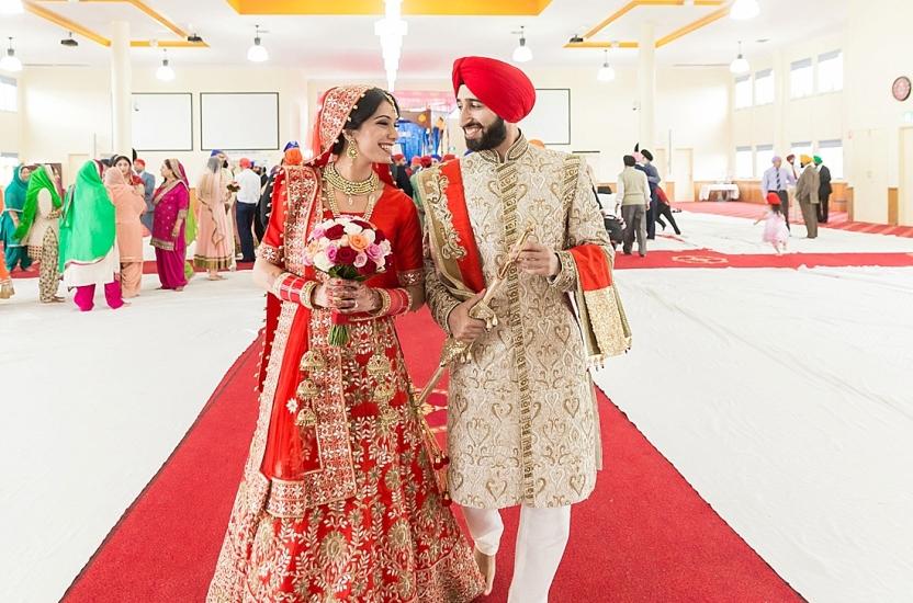 Indian Sikh Wedding Photography – Parklea Gurudwara – Preet and Hemant