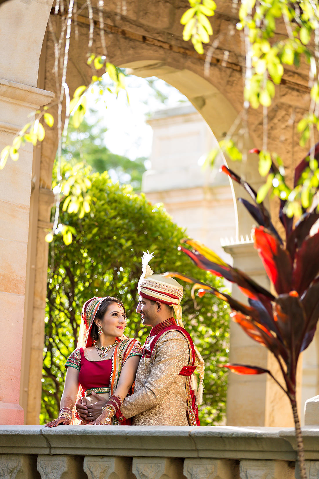 Curzon Hall Sydney wedding photo at sunset