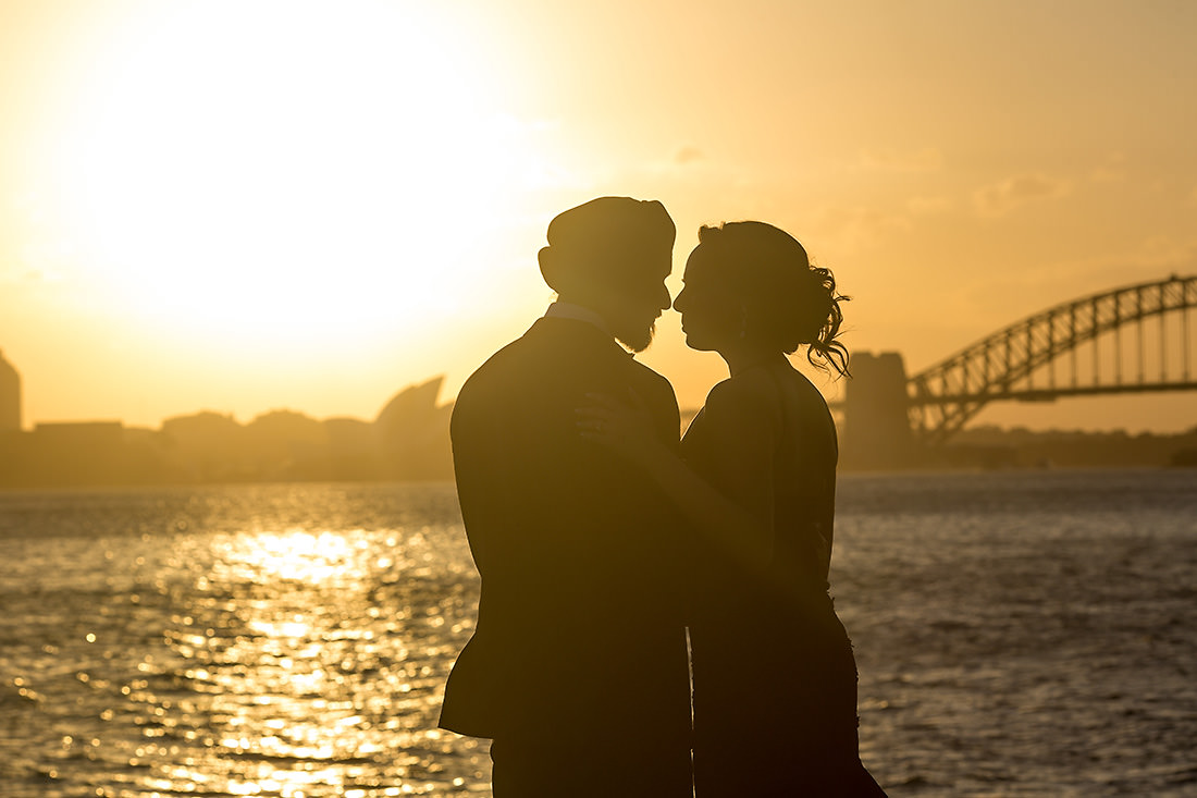 La Perouse Sydney wedding photo at sunset