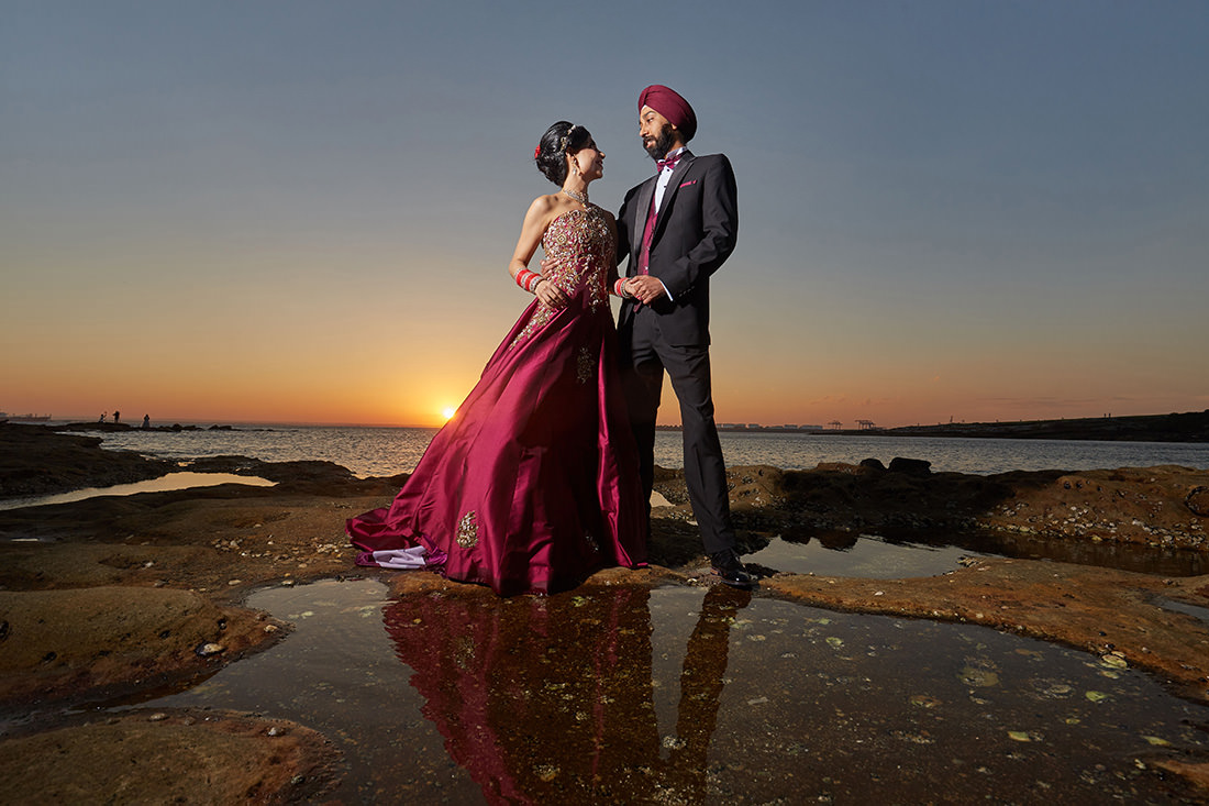 La Perouse Sunset Wedding Photo