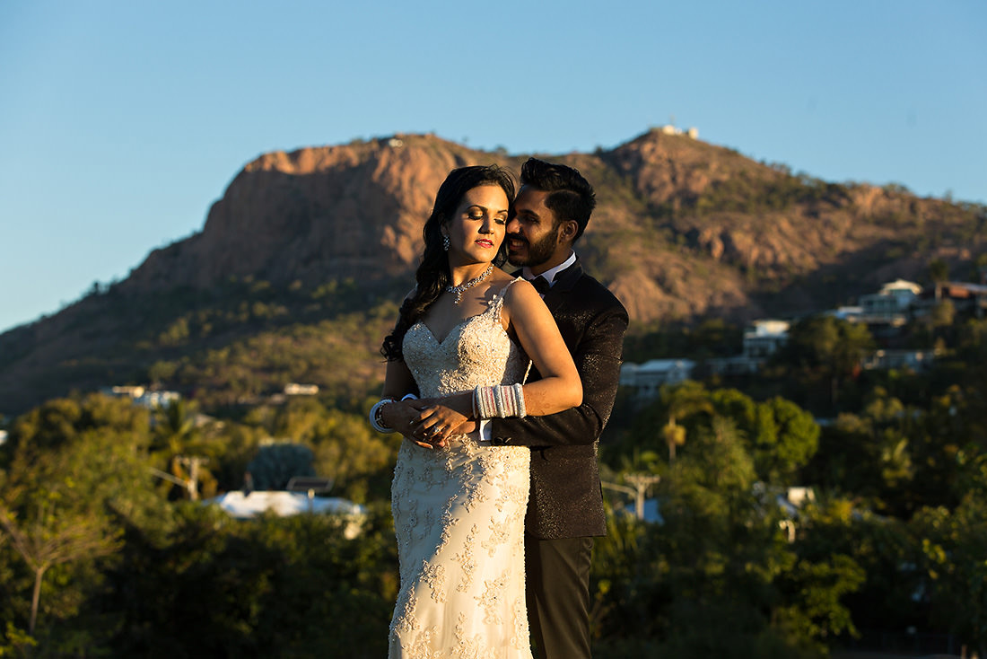 Townsville wedding photo at sunset