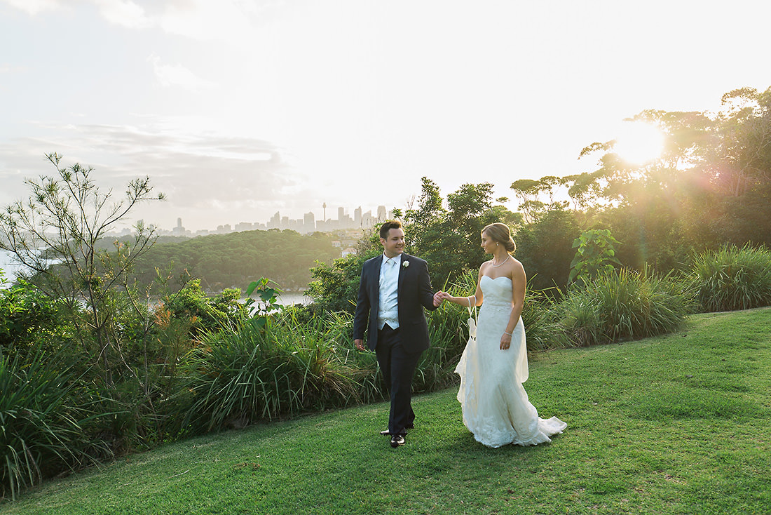 Mosman Tea Room Sydney wedding photo at sunset