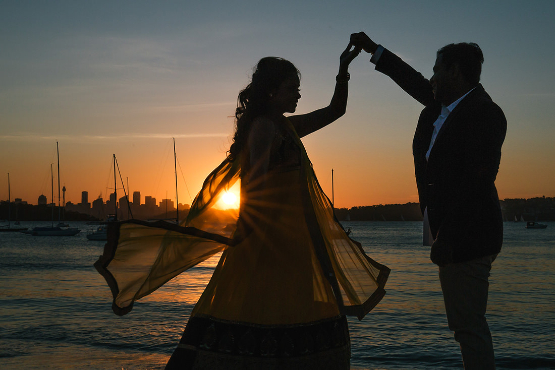 Rose Bay Sydney wedding photo at sunset