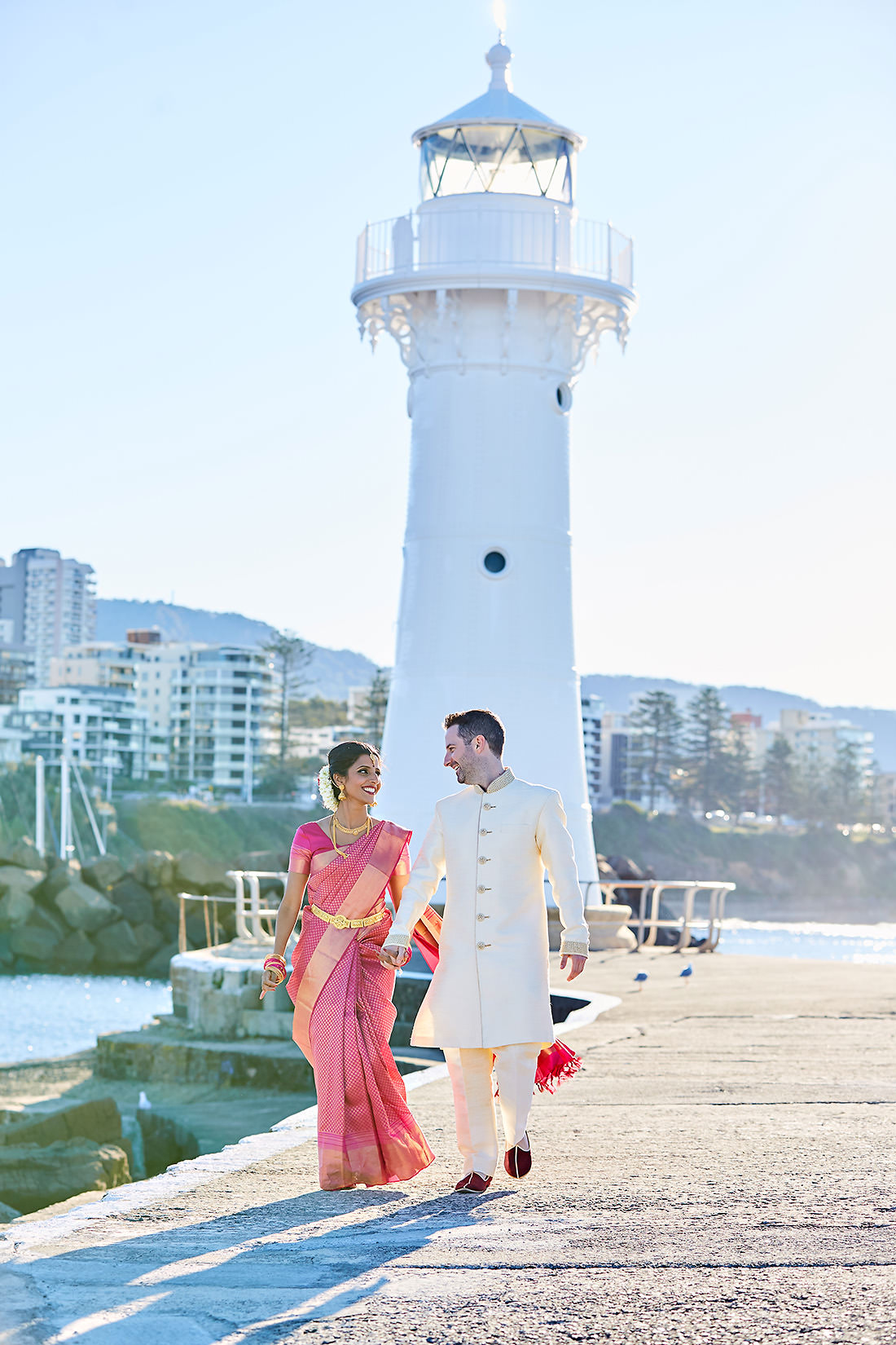 Wollongong wedding photo at sunset
